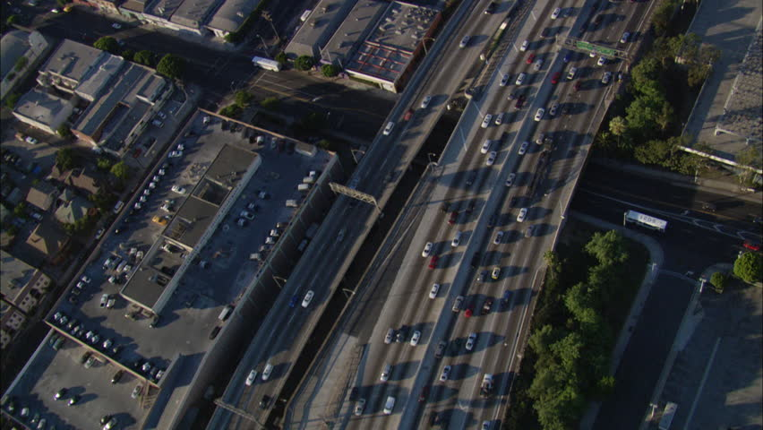 Downtown Los Angeles California. Downtown Los Angeles, California. Close up of the freeways, streets, and buildings. | Shutterstock HD Video #5794805