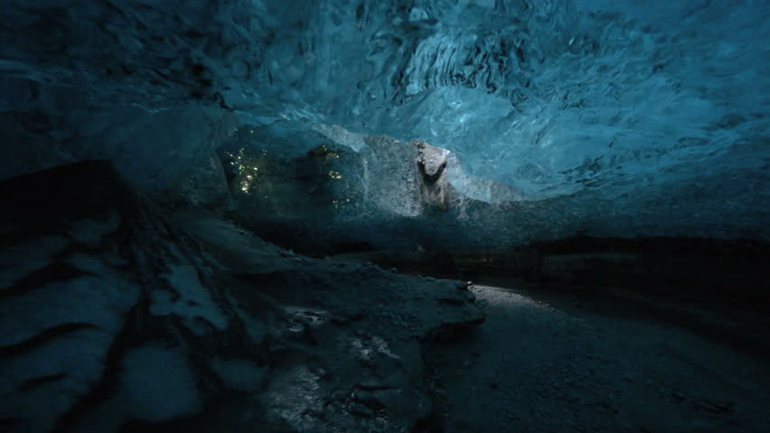 An ice cave (Crystal Cave) in Skaftafell, Iceland