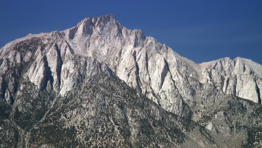 Lone Pine Peak and Mt. Whitney, the highest summit in the contiguous United States