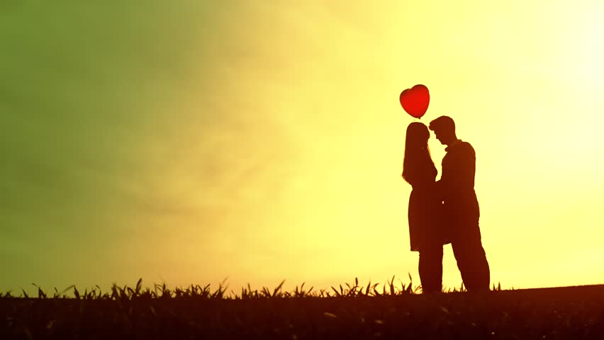 Stock Video Clip Of Cute Young Couple Heart Balloon Romantic Love |  Shutterstock