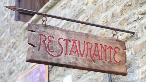 restaurant sign in Spanish