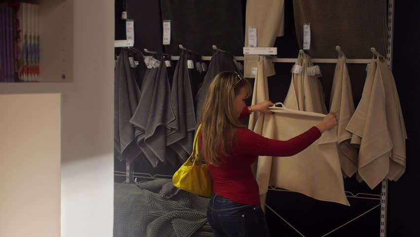 Furniture Design Videos women shopping, young hispanic woman buying furniture, sofa and