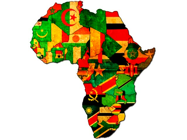 Map Of Africa Flags.Africa Map With Country Flags Stock Footage Video 100 Royalty Free 595315 Shutterstock