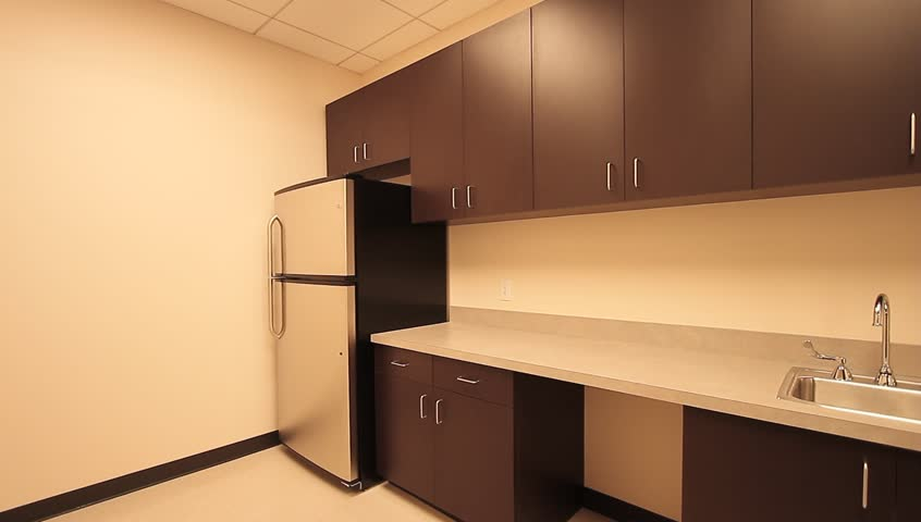 Kitchen Office Cabinets. the Inside Stock Footage Video ...