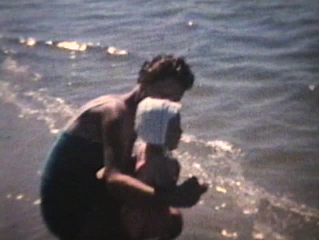 Baby Goes To The Beach (1963 - Vintage 8mm film)