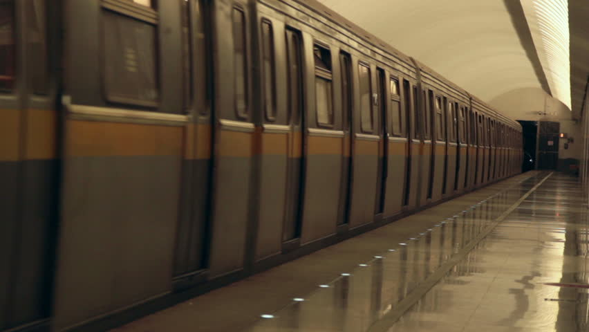 Moscow, Russia 2013 - train departure from subway station | Shutterstock HD Video #6009425