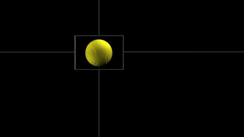 Tennis Ball in a Square | Shutterstock HD Video #6010985