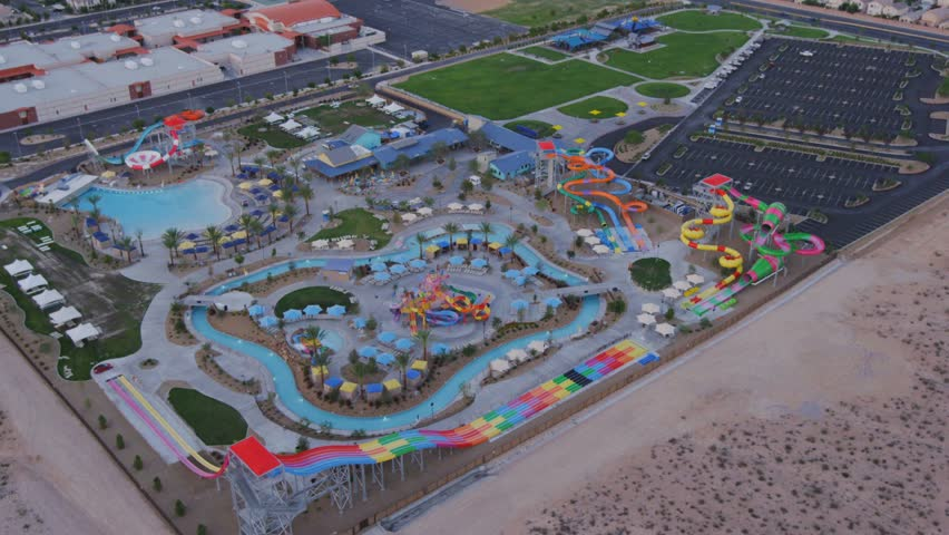 Aerial view of a water park near Las Vegas, Nevada.