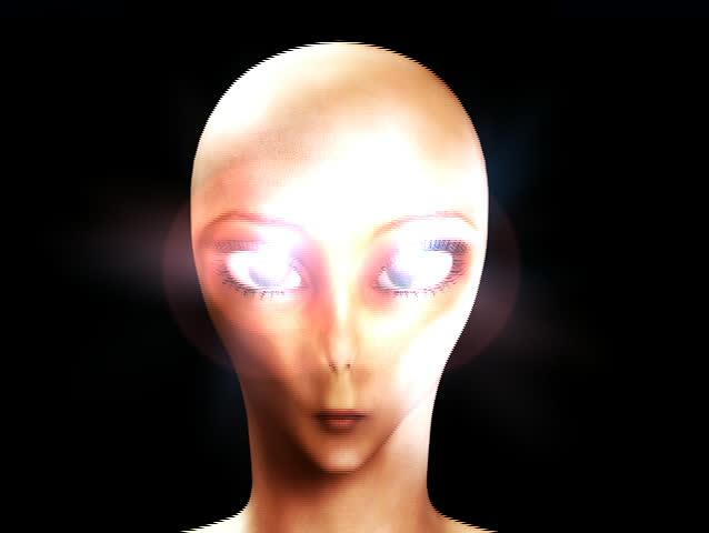 An alien with hypnotic eyes. | Shutterstock HD Video #606502