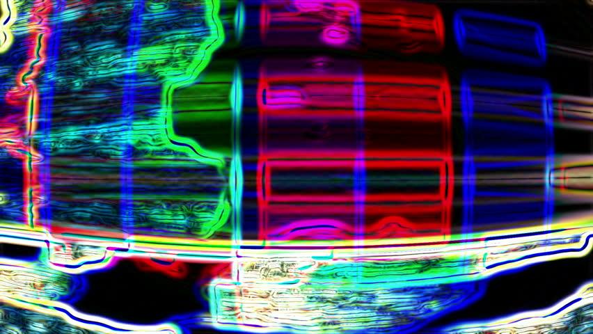 Abstract digital data forms flicker, ripple and pulse (Loop). | Shutterstock HD Video #6068405