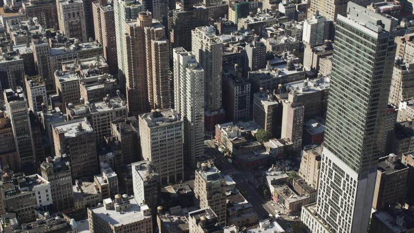 Wide Shot Manhattan cityscape / New York City, New York State, USA | Shutterstock HD Video #6075575