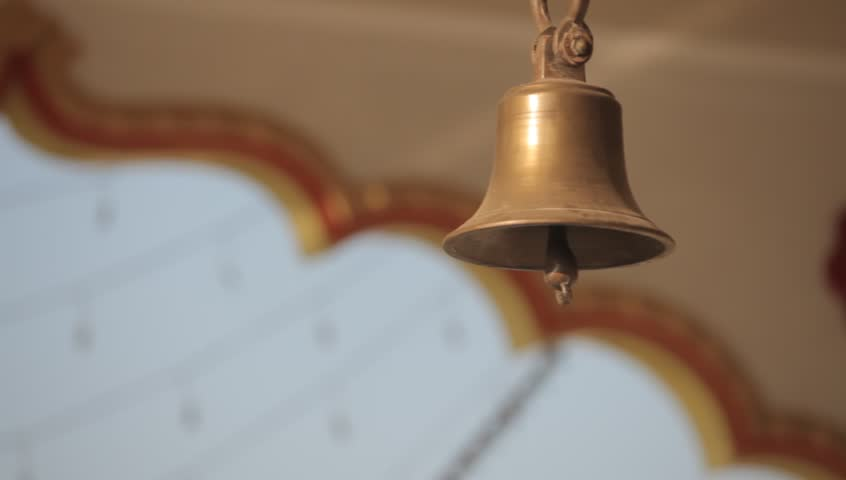Shot of Hindu Temple Bell Stock Footage Video (100% Royalty-free) 6126275 |  Shutterstock
