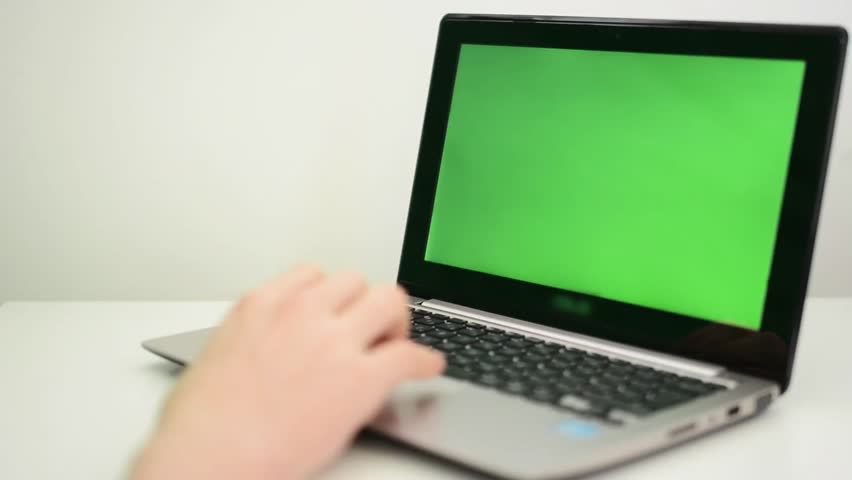 Laptop green screen  | Shutterstock HD Video #6140165