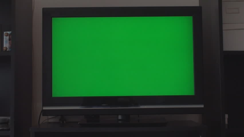Turning Up The Volume On A HDTV With A Green Screen, Chroma, Key, Front Shot | Shutterstock HD Video #6146075