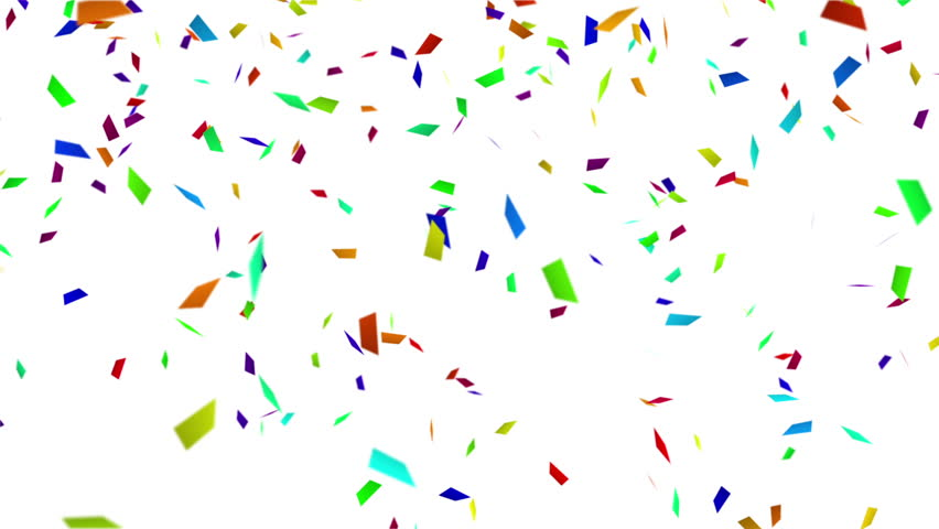 Colorful confetti with luma matte. computer generated seamless loop abstract motion background  | Shutterstock HD Video #6157718
