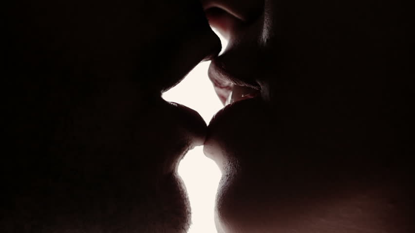 Close up young caucasian couple kissing - love - lover