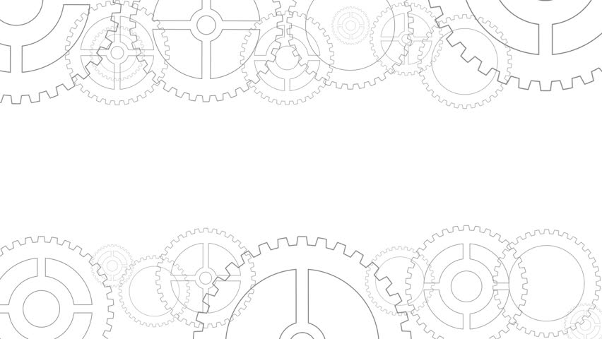 stock video of technology concept with gears on white