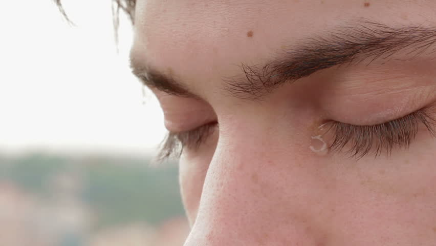 sad and crying boy in 1080p - young man - tears