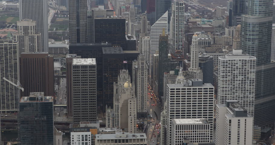 People Commuting Work Home Busy Car Traffic Road Aerial View Skyline Chicago Day ( Ultra High Definition, Ultra HD, UHD, 4K, 2160P, 4096x2160 ) | Shutterstock HD Video #6241985