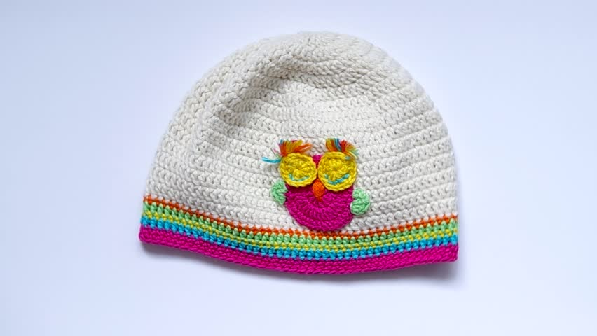 4d8dfbe9 Girls Crochet Hat are Rotated Stock Footage Video (100% Royalty ...