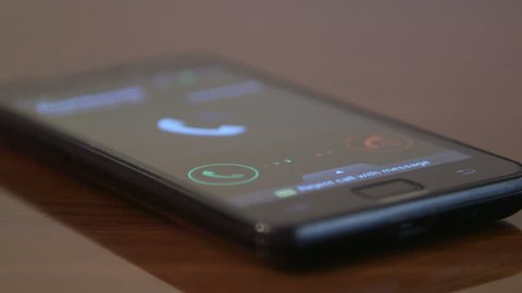 Answering an incoming call on smart phone