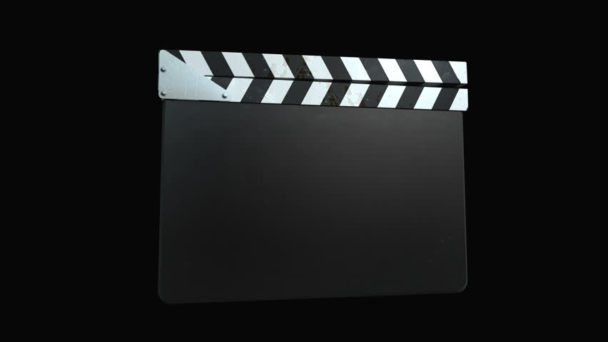 Film Slate - Four Animations+Alpha. 4 Clapperboard animations, Aeparate Alpha Channel, 3D Trackers for your text on Clapper