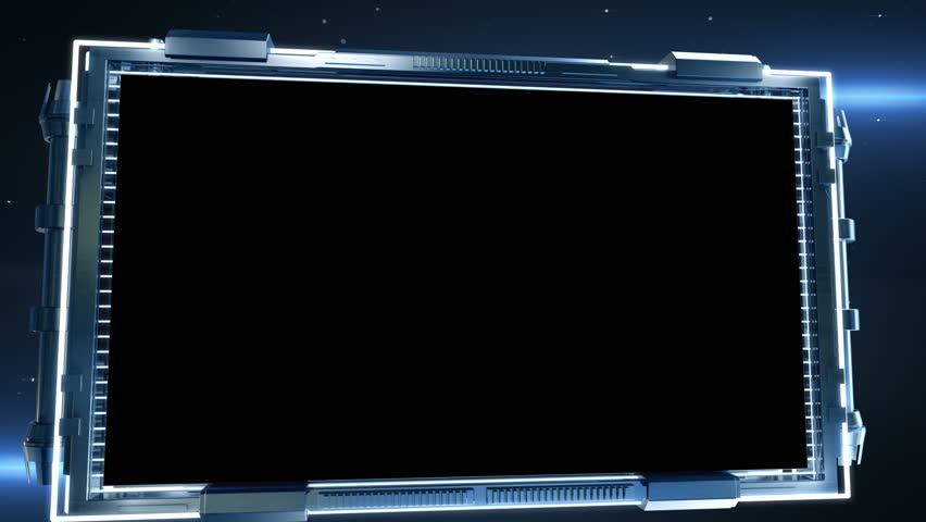 3d Square Hologram Frame Alpha Matte Ideal For Science