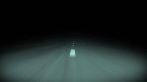 Highway Night Ride ,animation loop