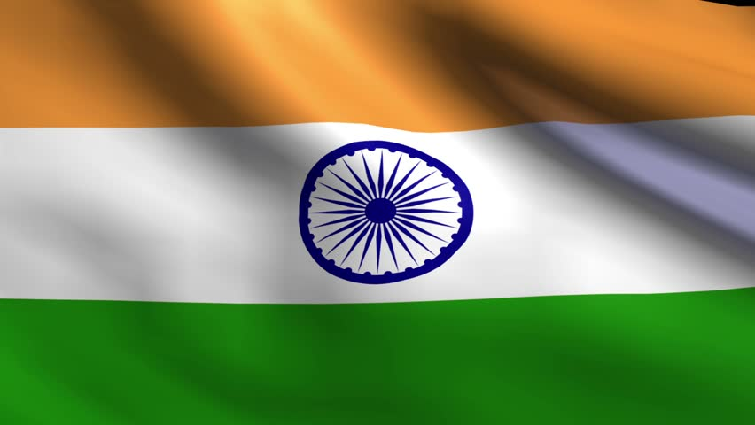 Indian Flag Animated: Stock Footage Video 663292
