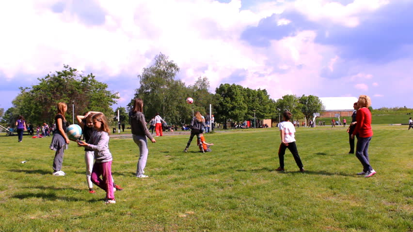 Zrenjanin,Serbia - May 01 2014 :Park in the Zrenjanin , families with the kids recreation in Park  on May 01 2014 in Zrenjanin, Serbia.