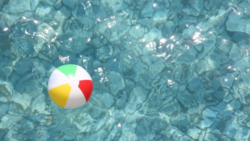 Pool Water With Beach Ball beach ball floating in pool stock footage video 4752695 | shutterstock