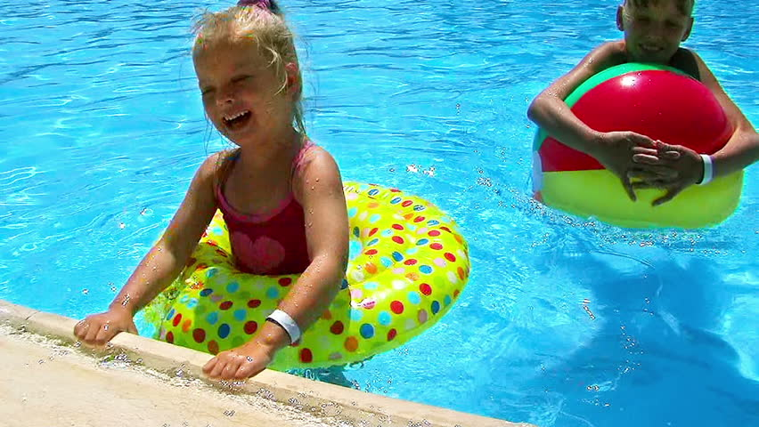 pool water with beach ball. Children With Beach Ball In Swimming Pool. - HD Stock Footage Clip Pool Water