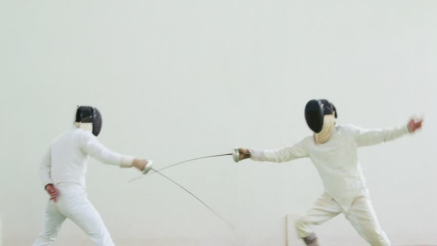 People practicing, men, athletes, sport, fencing duel. Olympics. 8of26