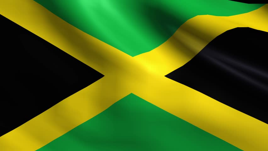 flag of jamaica background seamless stock footage video