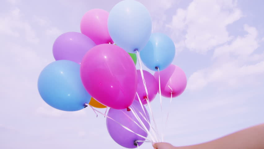 Where are the balloons flying away
