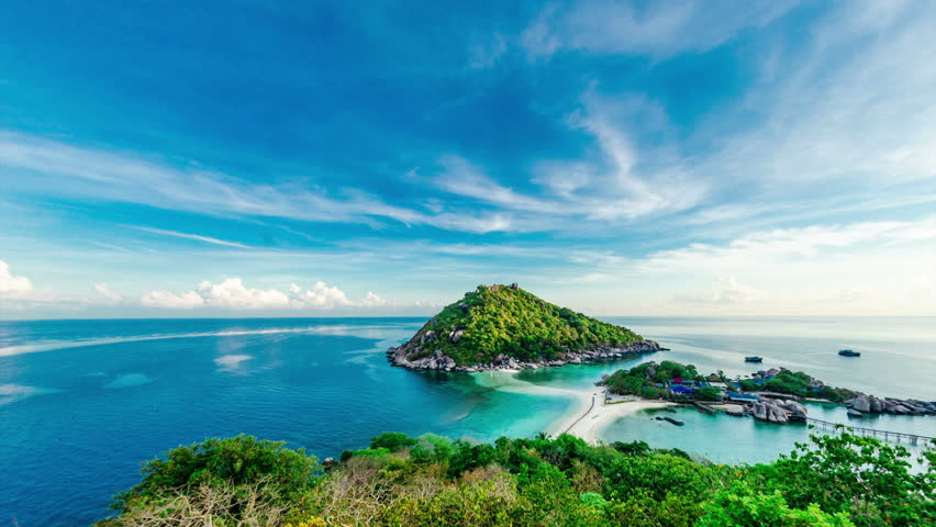 Stock video of 4k timelapse of tropical island with 6378515 shutterstock - Nangyuan island dive resort tripadvisor ...