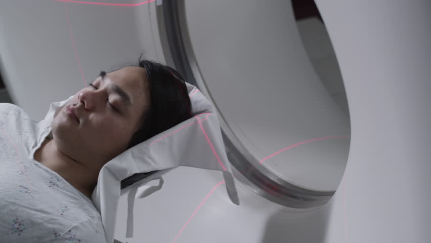 Patient being prepared for medical scan