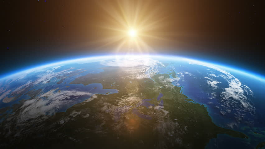 Beautiful sunrise over North America seen from space. MORE OPTIONS IN MY PORTFOLIO