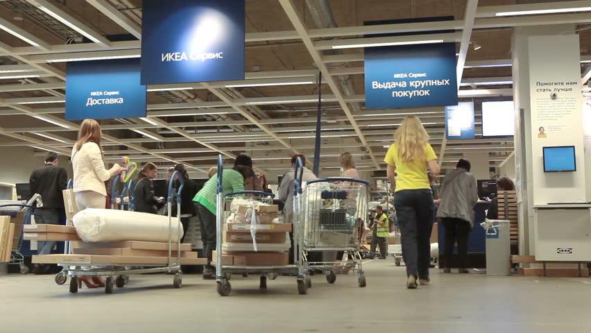 Saint-petersburg, Russia-circa May, 2014: Ikea Stock Footage Video (100%  Royalty-free) 6482015   Shutterstock