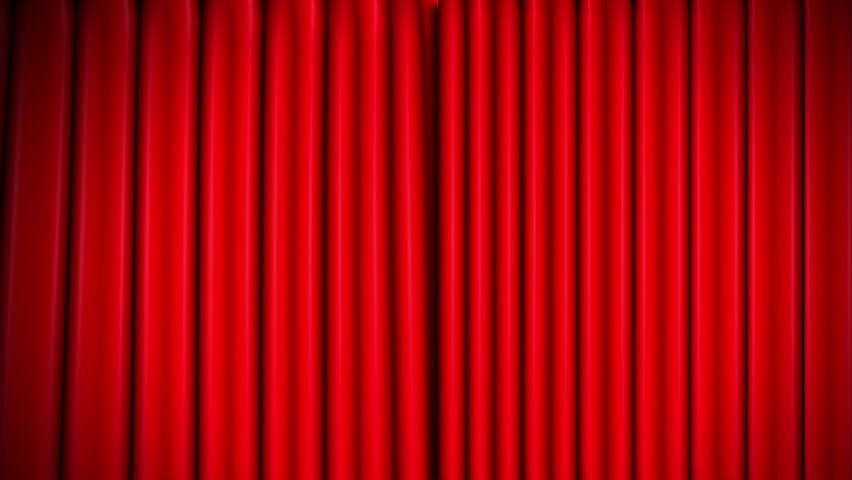 Hd0030red Theater Velvet Curtains Opening