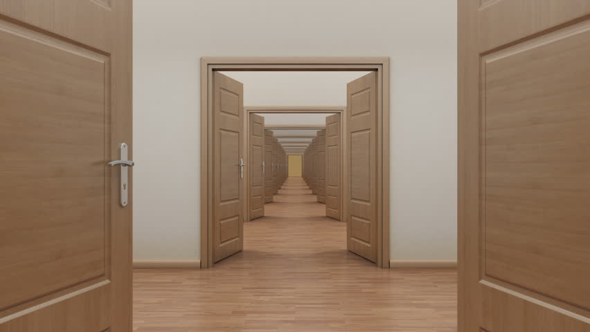 hd0010Pass enfilade open 7 doors. Alpha channel & Stock video of pass enfilade open 14 doors. alpha | 6549005 ...