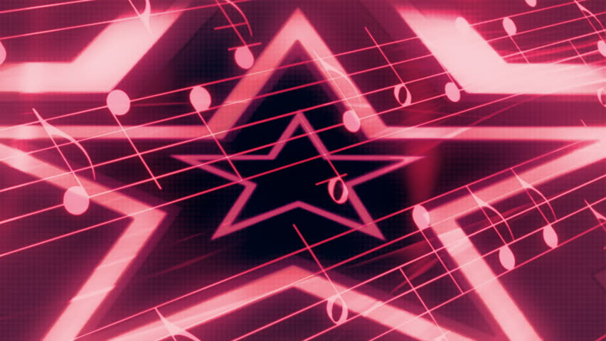 Rock Star Music Abstract Animated Looping Background
