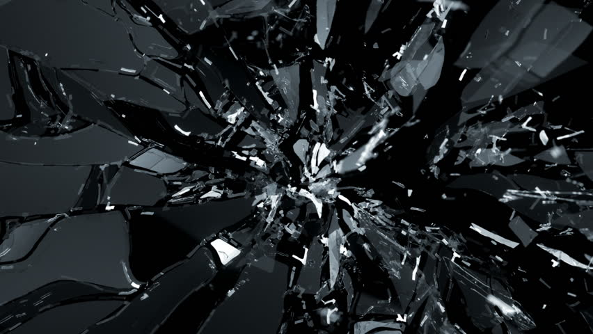 Shattered glass with slow motion. Alpha | Shutterstock HD Video #6591785
