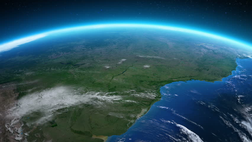 Stock Video Clip Of Earth From Space Brazil Beautiful