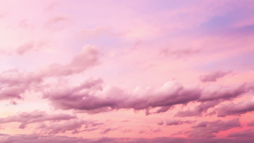 4k Timelapse of beautiful pink sunset sky turning to blue evening sky 4k cloudscape footage 4096x2304   Shutterstock HD Video #6618530