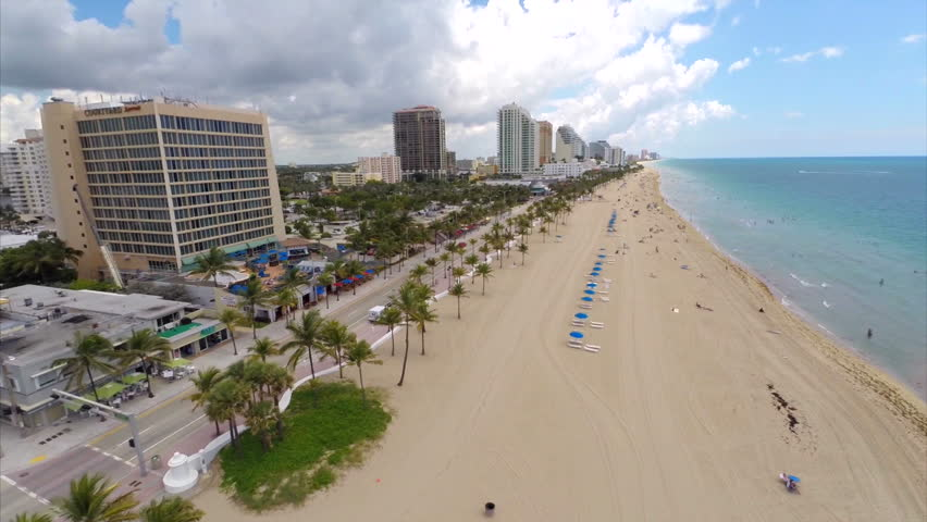 Aerial video of Fort Lauderdale Beach Florida
