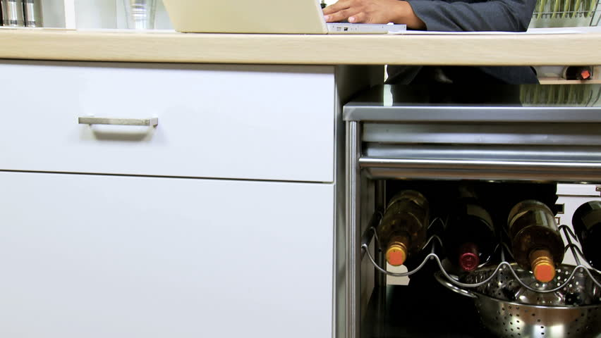 Smart Businesswoman Kitchen Counter Using Wireless Technology ...