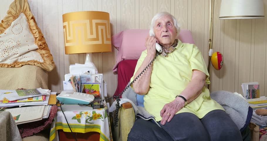 Header of senior citizen