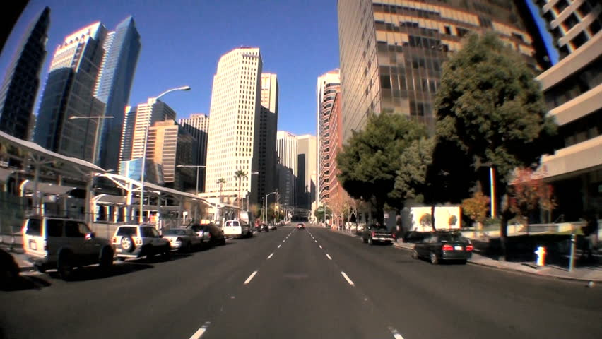 Point-of-view fish-eye driving the city streets of San Francisco