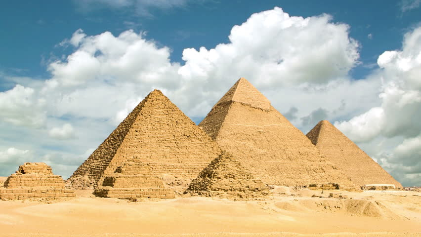 Timelapse of the great pyramids in Giza valley, Cairo, Egypt | Shutterstock HD Video #6741532
